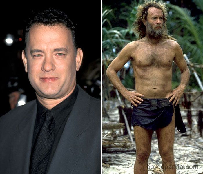 43 Actors Who Underwent Dramatic Transformations For A Role Actors Tom Hanks Tom Hanks Castaway