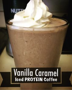 LOW-Calorie HIGH-Protein Vanilla Caramel Iced Coffee! | Skinny Fat Girl