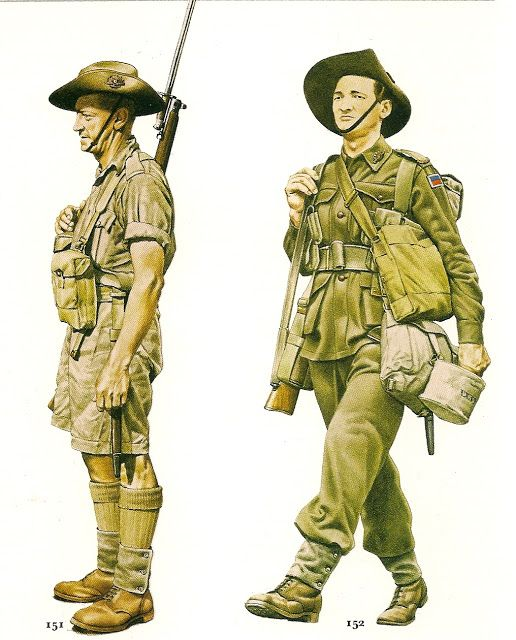 N º 151.- Private, Australian Army, 1941- Nº 152.- Private Austalian Army, 1940.jpg