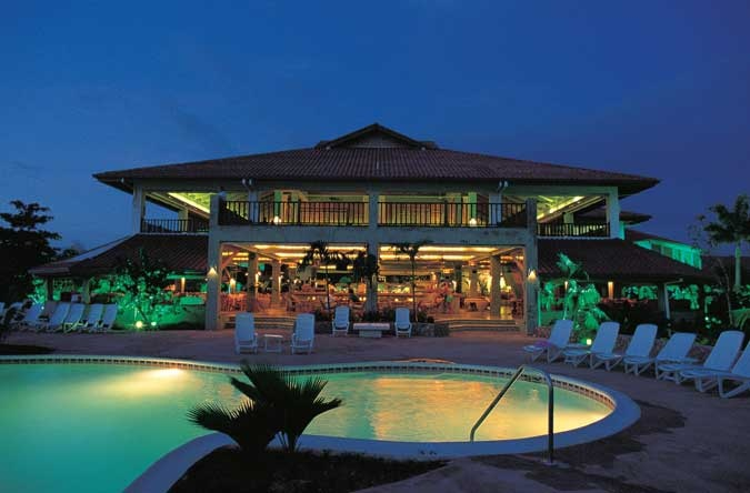 """Couples Swept Away"" Negril Jamaica. This is the view of the greathouse and pool in the evening. Absolutely gorgeous!"