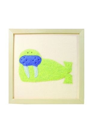 23% OFF Cate & Levi Walrus Wall Art, Green/Blue
