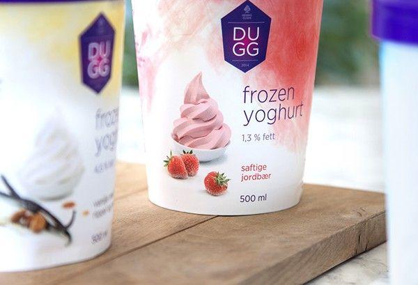 DUGG frozen yoghurt and fruit sorbet on Packaging Design Served
