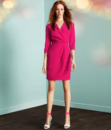 H Pink Wraparound dress