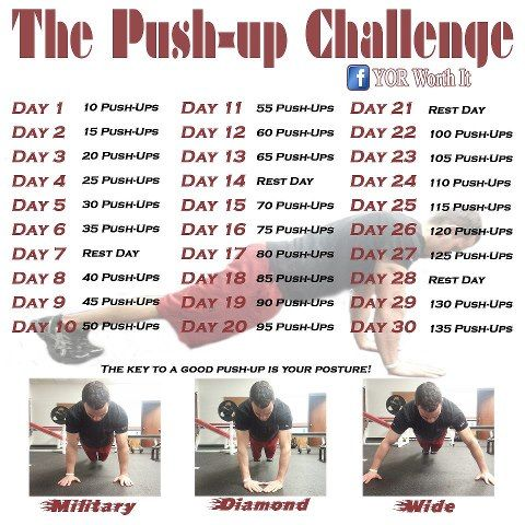 "Neoshi's 30 Day ""Get It Tight"" 30 day push up Challenge"