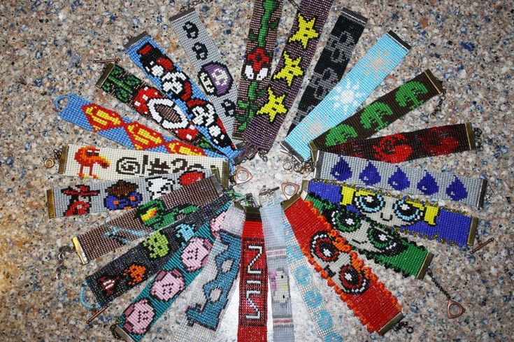 Pixel beaded bracelets video game anime super hero MTG cartoon geeky- choose  | Jewelry & Watches, Handcrafted, Artisan Jewelry, Bracelets | eBay!