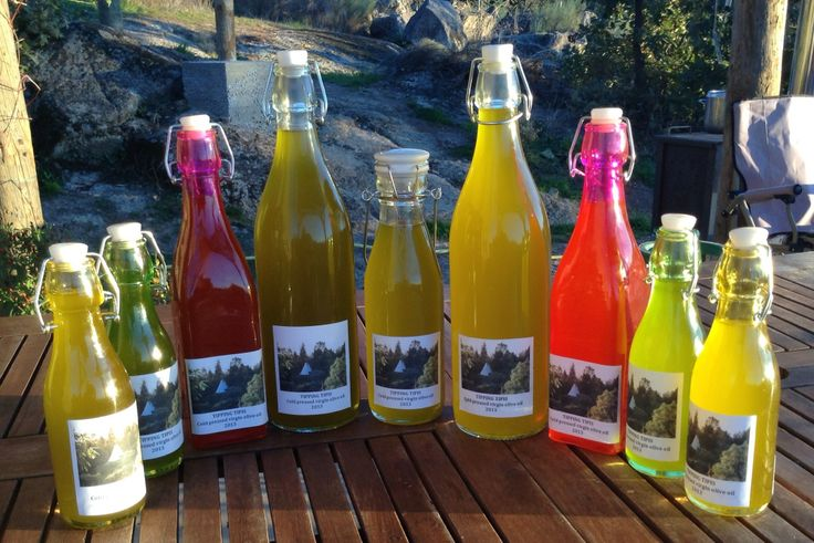 Our own cold pressed virgin olive oil