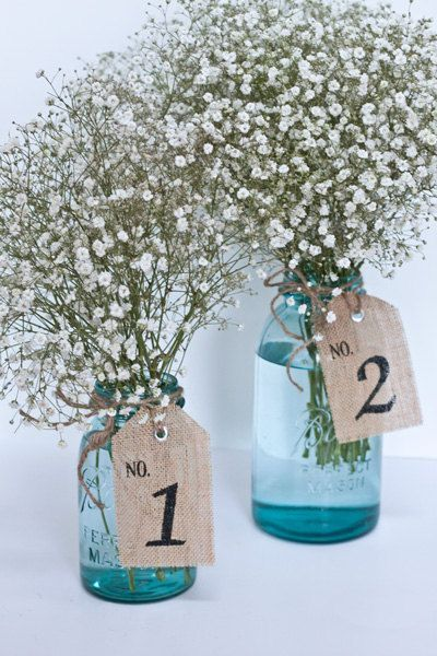 burlap table numbers | Burlap Table Number Tags 110 table number tags by TheGlitteredBarn, $ ...
