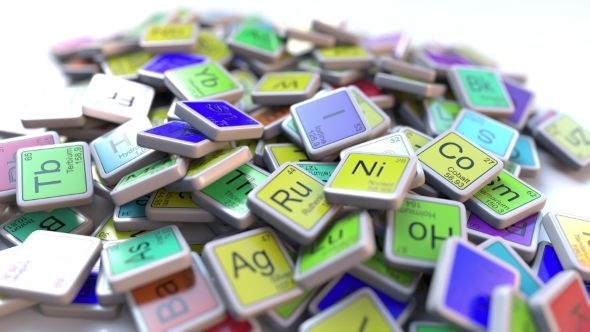 Tungsten W Block on the Pile of Periodic Table of the Chemical Elements Blocks by moovstock Tungsten tag on the pile of periodic table of the chemical elements tags
