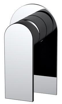 Tilo Tapware Zircone Matte Black Chrome Wall Mixer