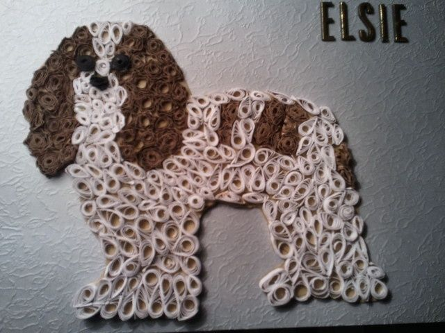 Quilled pic for my friend of her dog elsie... | Quilling - Dogs