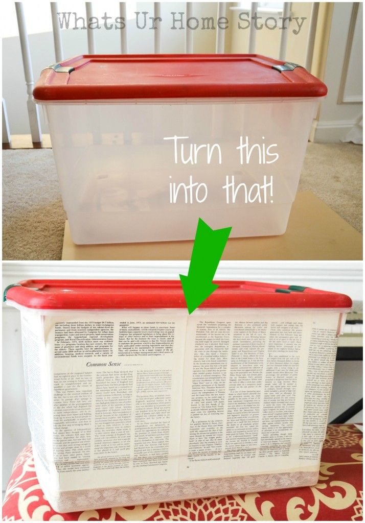 Plastic Storage Bin Makeover - Whats Ur Home Story