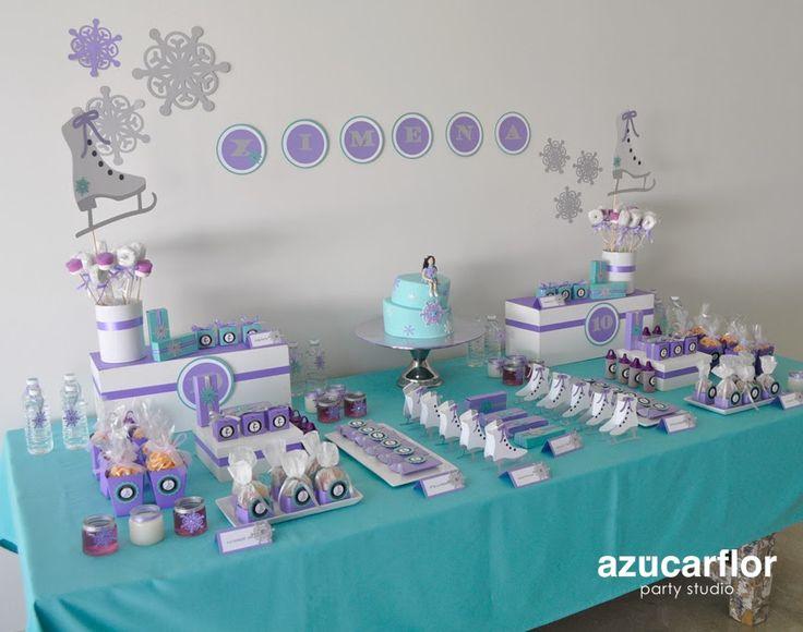AZUCAR FLOR party studio: Patinaje sobre hielo