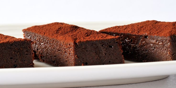 These deliciously fudgy brownies are sprinkled with Cornish sea salt for a remarkable sweet/salt contrast in this chocolate brownie recipe from Nathan Outlaw