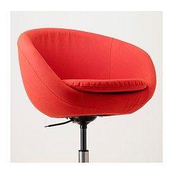 SKRUVSTA Sedia da ufficio - -, Vissle rosso-arancione - IKEA