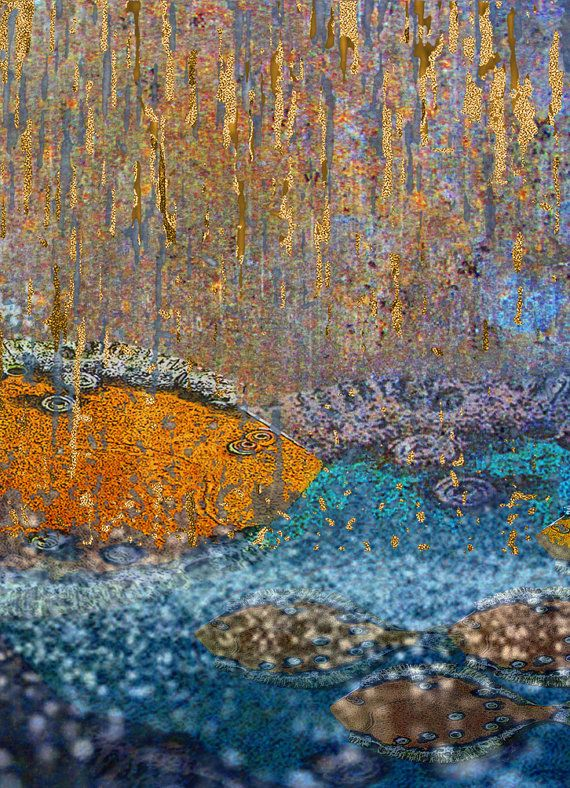 art print golden fish wall decoration home decor by aquamorina