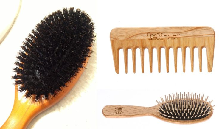 Natural Bristle Hair Brushes - Boar's Hair and Wooden Brushes - Distribute natural hair oils | How to Transition to No Poo without looking oily | Just Primal Things