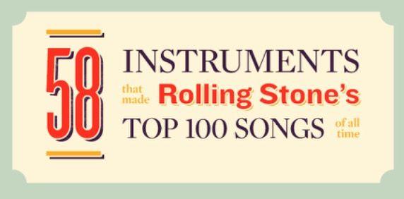 #Especiales // Estos son los instrumentos que contribuyeron en las 100 mejores canciones de todos los tiempos.