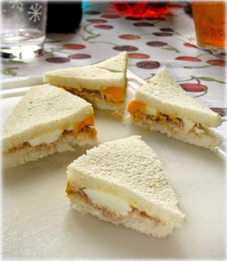 Tramezzini con tonno e uova sode - Fragola e Cannella
