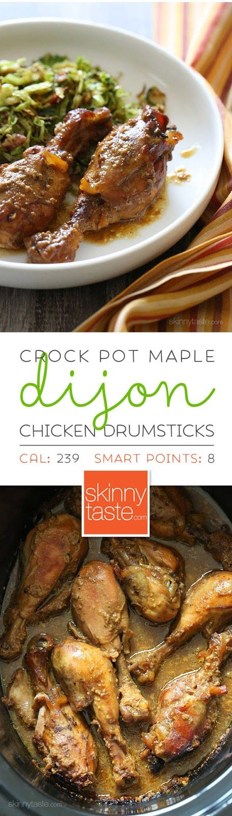 FOR FODMAP, SUB GARLIC SALT WITH SEA SALT AND SPICES OF YOUR CHOICE (THYME, ROSEMARY, CHILE POWDER, CUMIN) Crock Pot Maple Dijon Chicken Drumsticks – An EASY 6-ingredient chicken dish the whole family will LOVE!