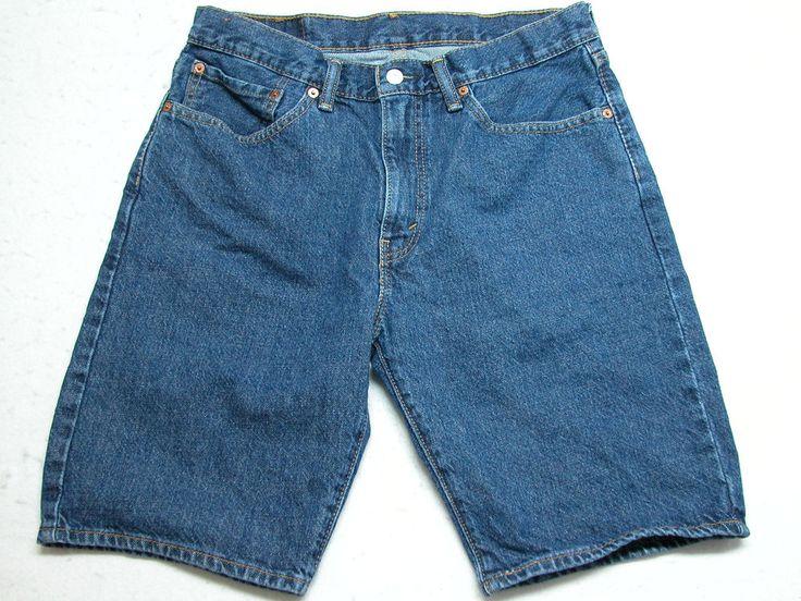 Levi's 505 Mens Shorts Size 34 Dark Wash 100% Cotton ( Measure 33x10 ) EUC!!  #Levis #Denim