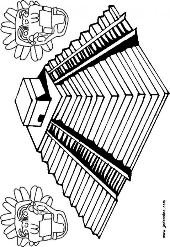 Mayan pyramid of Chichen Itza coloring page | Summer Camp Ideas ...