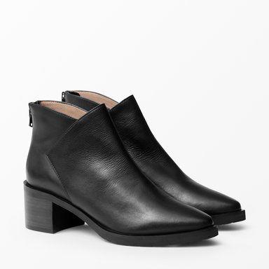 Boots med klack, svart