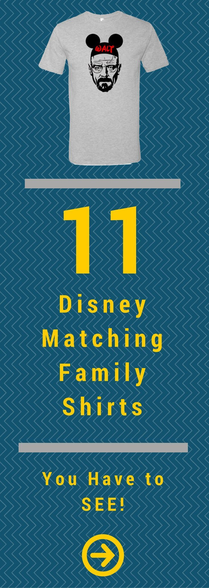 11 Disney Matching Family Shirts You Have to See! #disneyfamily #disney via @globalmunchkins