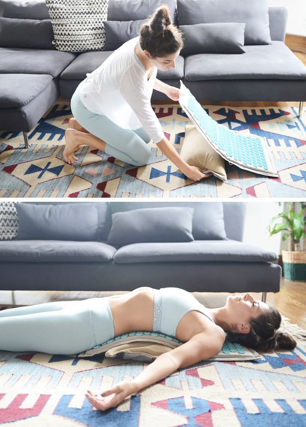 4 Self-Massage Tools I Love - acupressure mat for relieving tight muscles and relaxing (I use this for 15-20 mins a day and love how refreshed it leaves me feeling!)