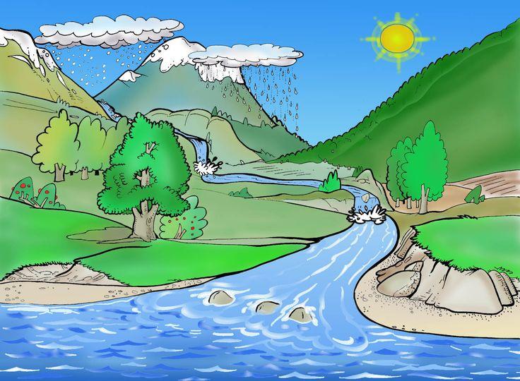 El cicle de l 'aigua/El ciclo del agua