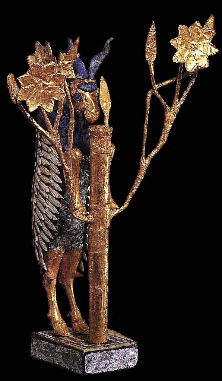 Ram and Tree. Offering stand from Ur. c. 2600 B.C. Wood ...