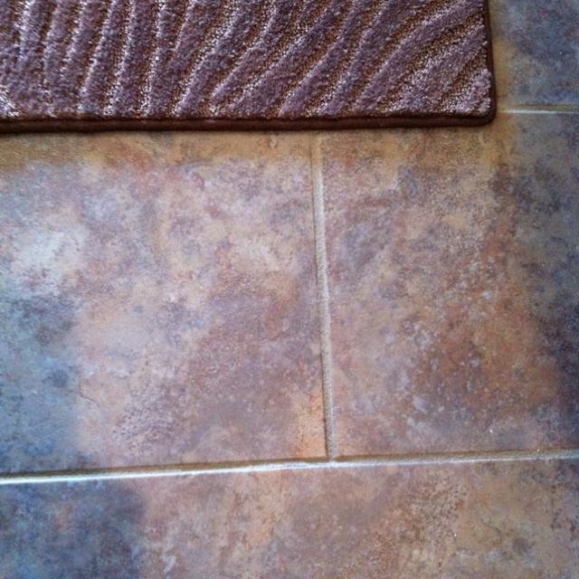 Grouted Laminate Flooring Looks Just Like Tile