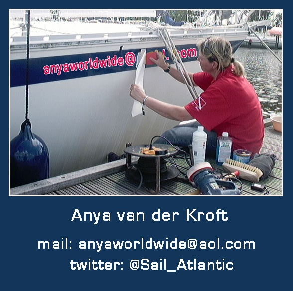 Crossing the Atlantic Ocean and in need of crew? Please contact me:  anyaworldwide@aol.com