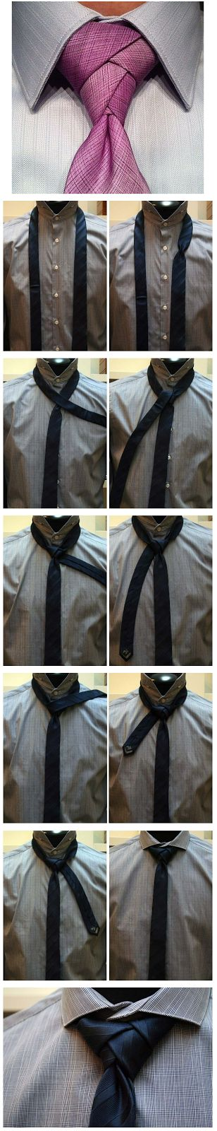 Manualidades para Hombres: Como hacer Nudo Nuevo de Corbata