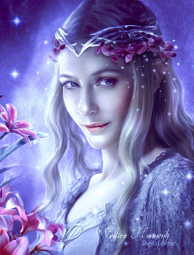 "chibisonikku: "" Galadriel - Queen of Light by Celtica-Harmony """