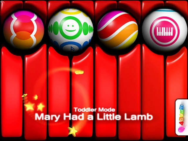 RED, RED, RED - ALL IS RED - PianoBall can be red too - Mary Had a Little Lamb