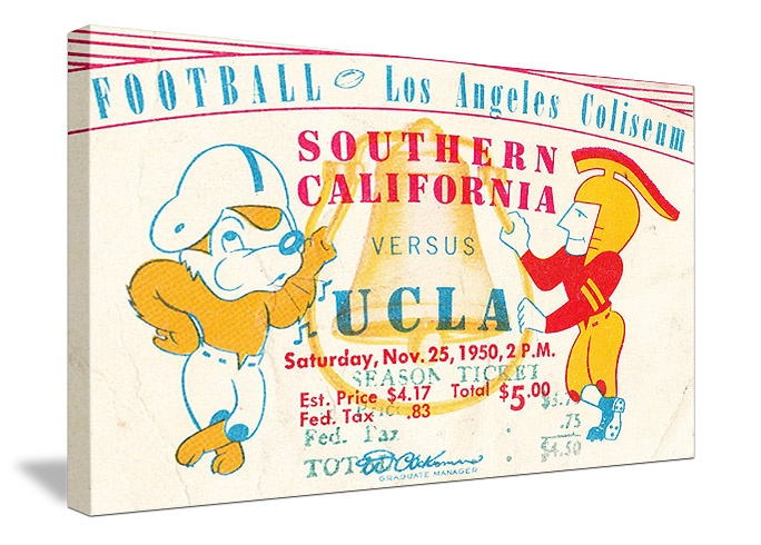 USC vs. UCLA football tickets! The best vintage football tickets ...