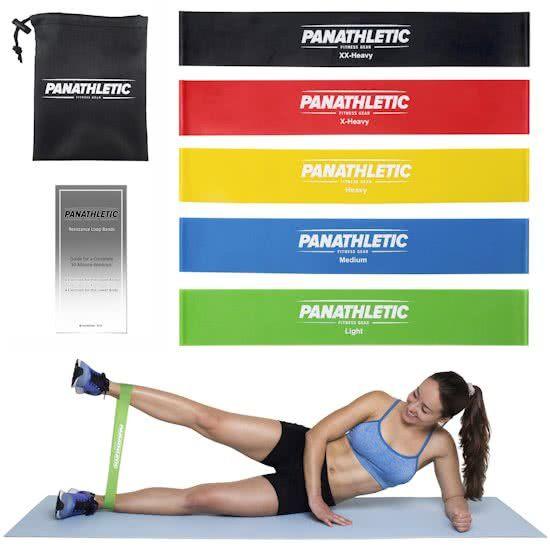Panathletic 5 Weerstandsbanden Set - Mini Power body band - Weerstandband fitness elastiek fitnessband