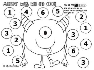 K-2 Dice Fun! Roll the Dice and colour in the number it adds up to.