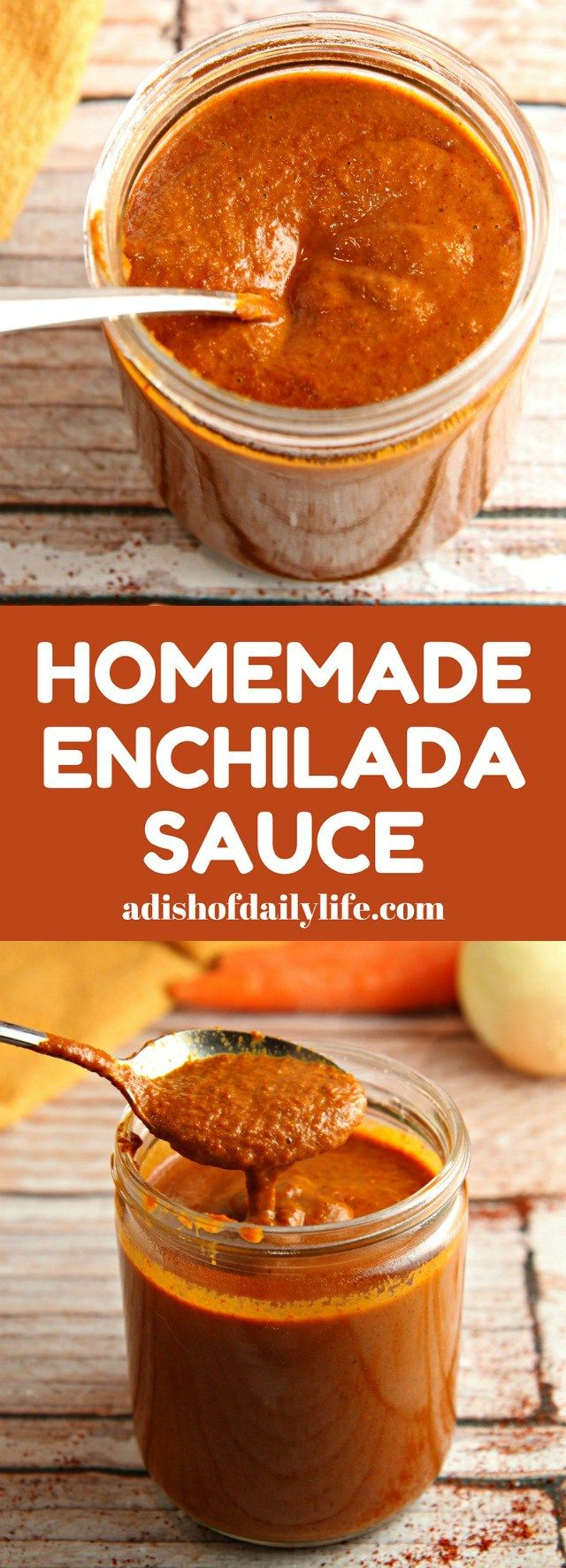 Ditch the canned sauce! This Homemade Enchilada Sauce recipe is very easy to make and tastes a lot better than canned! Make turkey enchiladas with your Thanksgiving leftovers!