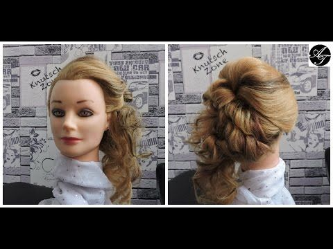 Wedding prom hairstyle for medium long hair. Tutorial
