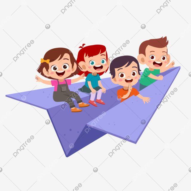 Los Ninos Viajan Ilustracion De Vector De Avion De Papel Clipart De Ninos Ninos De Imagenes Predisenadas Actividad Png Y Vector Para Descargar Gratis Pngtr In 2021 Kids Vector Paper