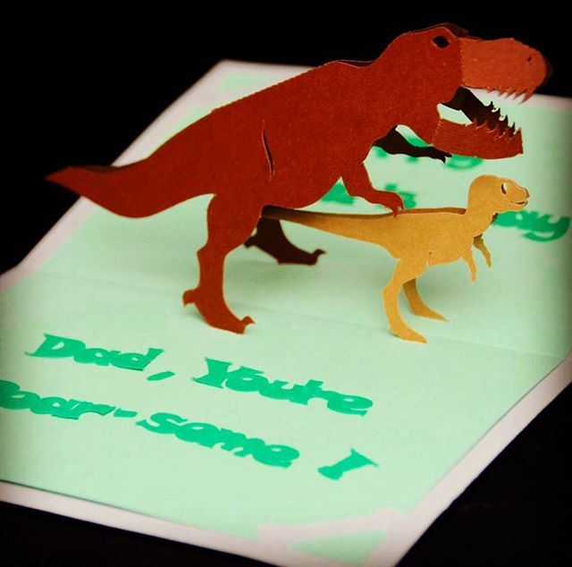 Here Is A Fun And Roarsome Card I Made For Fathers Day A While Back Fathersday Popupcard Dinosaur Papercra Pop Up Card Templates Heart Pop Up Card Pop Up Cards