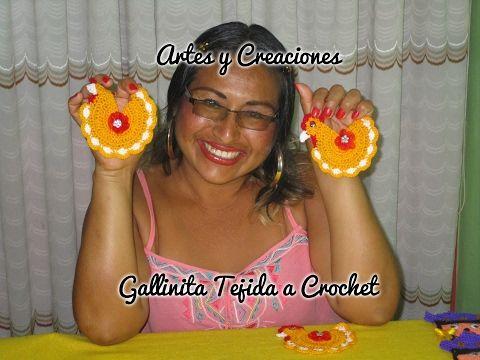 GALLINITA TEJIDA A CROCHET - YouTube