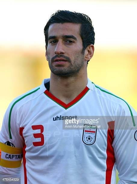 Ehsan Haj Safi of Iran looks on during the AFC Asian Cup Qualifier between Iran and Kuwait on March 3 2014 in Tehran Iran