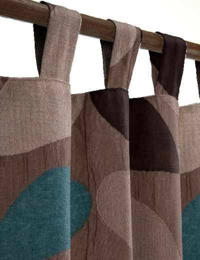 teal brown curtains - Google Search