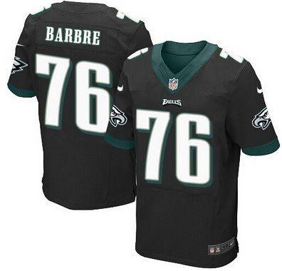 Men's Philadelphia Eagles #76 Allen Barbre Black Alternate NFL Nike Elite Jersey