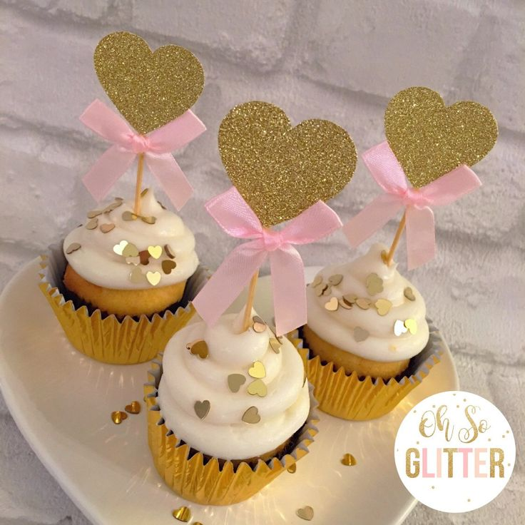A personal favourite from my Etsy shop https://www.etsy.com/uk/listing/480656648/heart-cupcake-toppers-glitter-cupcake