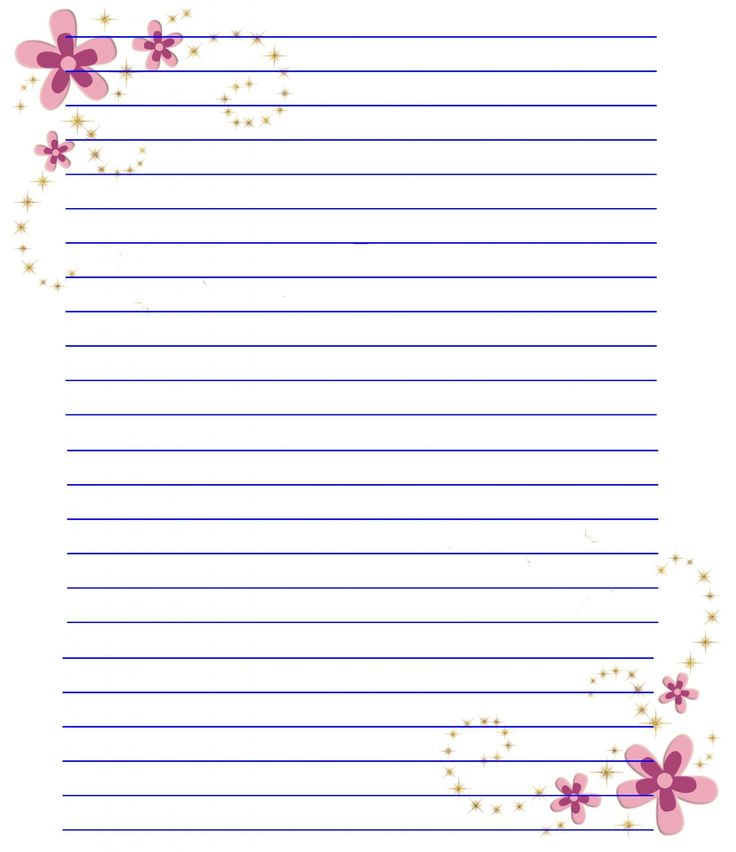 Writing paper stationery