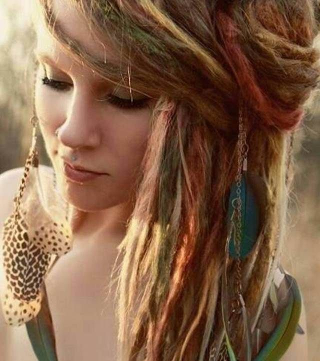 Boho Hairstyles | White Women Dreadlock Hairstyles