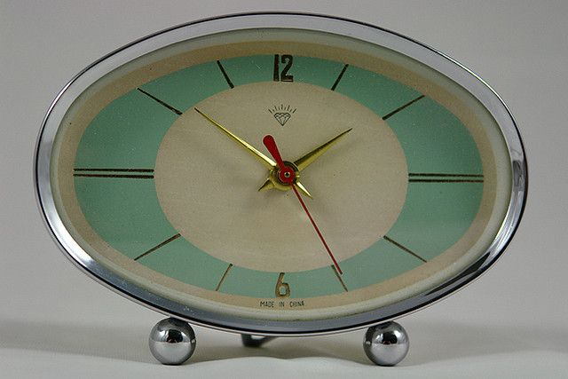 vintage 50s atomic clock | Flickr - Photo Sharing!